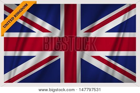 National flag of Great Britain - waving edition