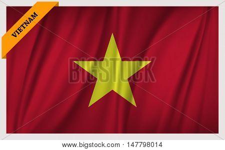 National flag of Vietnam - waving edition