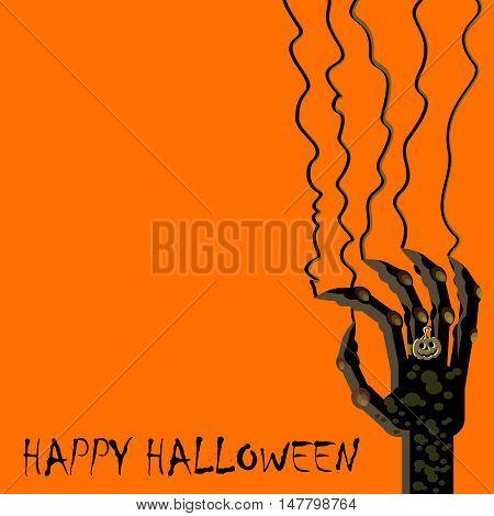 Halloween Hand Background