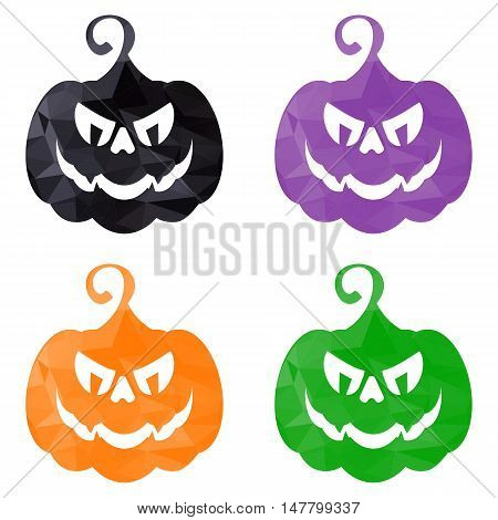 Halloween Pumpkins Low Poly