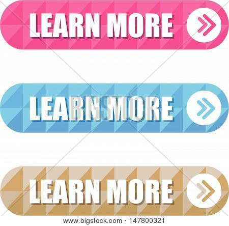 Colorful Set of Learn More Label wit Pattern
