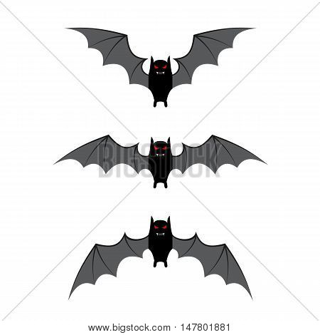 Bat flying cycle for animation. vector illustration for Halloween design, website, flier, invitation card