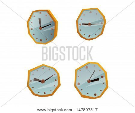 Clock face dial watch alarm vector illustration. Clock face icon isolated on white background. Clock, watch silhouette. Old, retro, modern and fashion style. Time tool icon, alarm, watch icon isolated