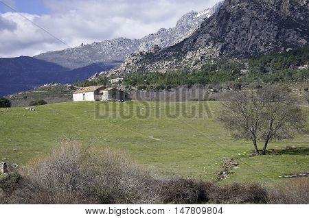 Farm house in Guadarrama Mountains, Madrid, Spain