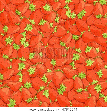 texture of juicy strawberries illustration