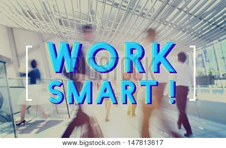 Work Smart Effective Business Graphic Concept