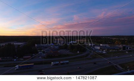 Aerial Photograpy with DJI Phantom 3 4K, sunset in Finland