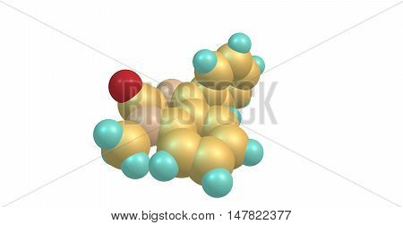 Diazepam or Valium is a medication of the benzodiazepine family that typically produces a calming effect. 3d illustration