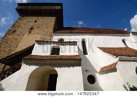 Viscri Fortified Church nearby Sighisoara Romania Transylvania