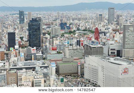 OSAKA, JAPAN - CIRCA JULY 2010: Cityscape of Umeda district circa July 2010 in Osaka, Japan.