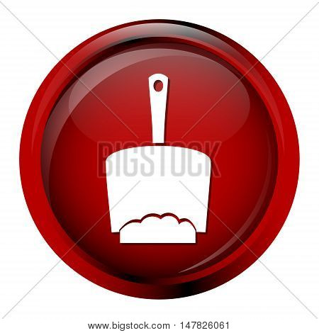 Dustpan icon cleaning sign concept vector illustration