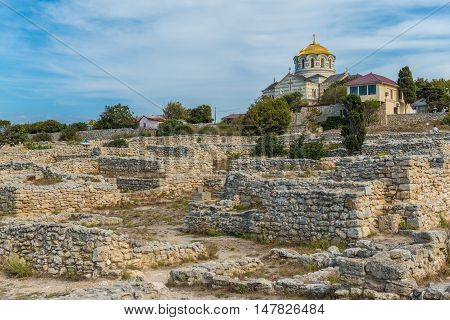 St. Vladimir's ancient Cathedral in Chersonese, Sevastopol, Crimea, Russia September 13 2016