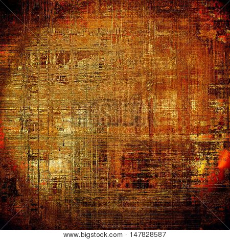 Old crumpled grunge background or ancient texture. With different color patterns: yellow (beige); brown; red (orange); black