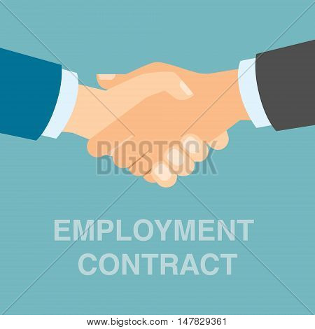Employment contract handshake. Two businessmen shaking hands after making agreement.