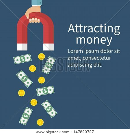 Attracting Money Concept
