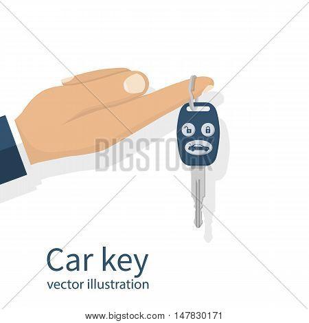Car Key Holding On Finger