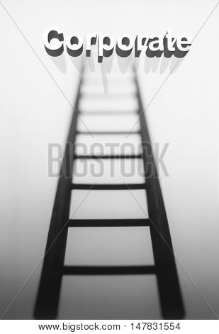 Climbing the Corporate ladder concept