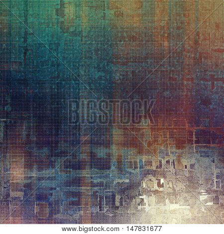 Vintage aged texture, old scratched background. With different color patterns: yellow (beige); brown; gray; green; blue; purple (violet)