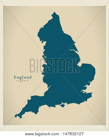 Modern Map - England UK vector illustration
