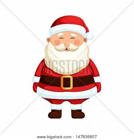 Christmas Santa Claus. Christmas holiday character. Christmas Santa Claus vector illustration. Cute cartoon Santa Claus