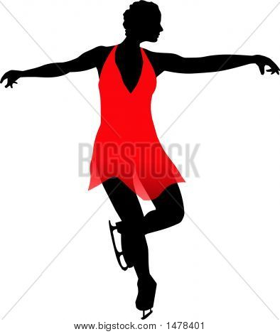 Woman In Red - Art On Ice.Eps