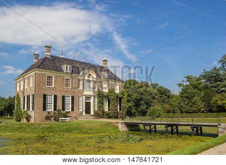 DALFSEN, NETHERLANDS - AUGUST 31, 2016: Historical dutch mansion Huis Den Berg in Dalfsen, Holland