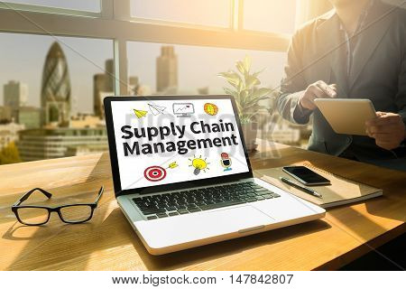 Scm Supply Chain Management Concept