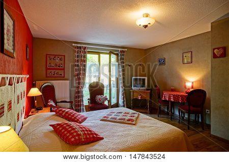 Countryside House Comfortable Interior In Alsacien Style