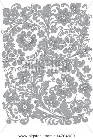 illustration with gray ornament on gray background