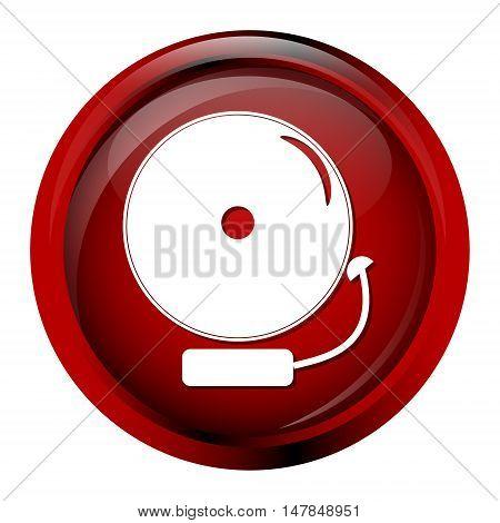 Alarm bell button warning sign vector illustration