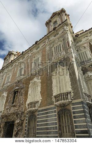 Valencia (Spain) facade of the Palace of Marques de Dos Aguas