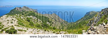 Mountain Crest And Ocean Panorama