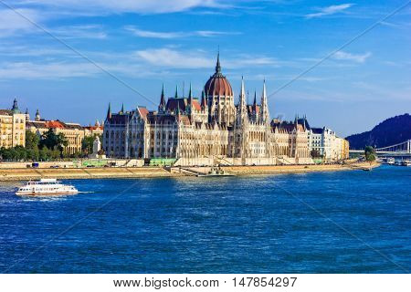 Landmarks of Europe - Budapest, view of Parliament