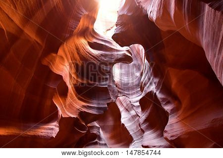 Page USA - july 9 2016 : the Antelope Canyon