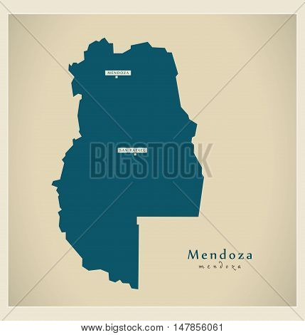 Modern Map - Mendoza AR vector high res