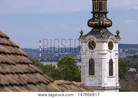 Saint Nicholas church in the old part of Zemun,Serbia