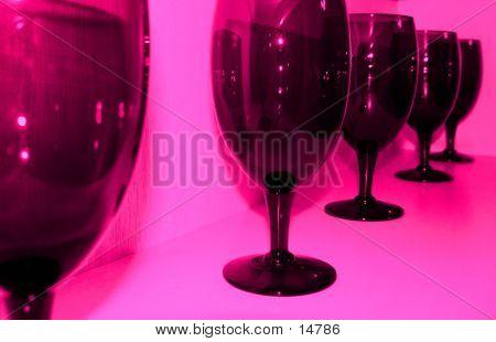 WINE GLASSES TINTED