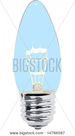 illustration with lamp on white background