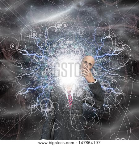 Powerful being reveals true self 3D Render