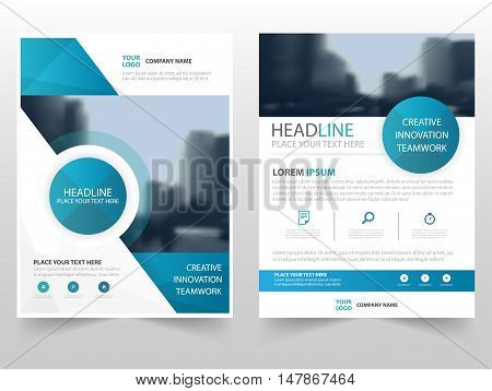 Blue circle technology business Brochure Leaflet Flyer annual report template design book cover layout design abstract business presentation template a4 size design