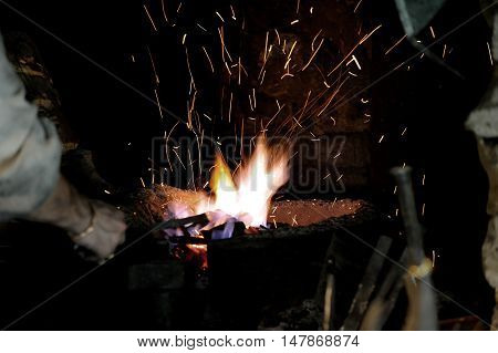 Embers And Flamme Of A Smith's Forge