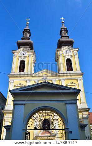 timisoara city romania serbian church landmark architecture