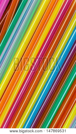 The Closeup Multi Color flexible straws and background.