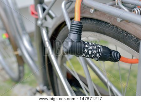 Number Lock on a Bike/ Bicycle Chain Lock, With place your text