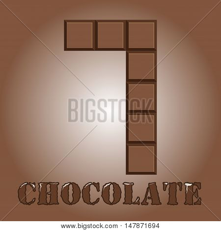 The number of bars of chocolate. Seven