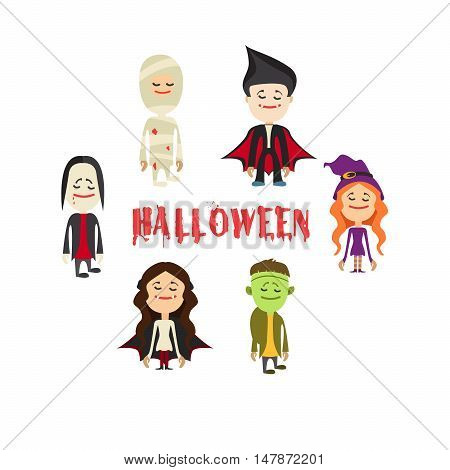 easy to edit vector illustration of Halloween character.Vector illustration