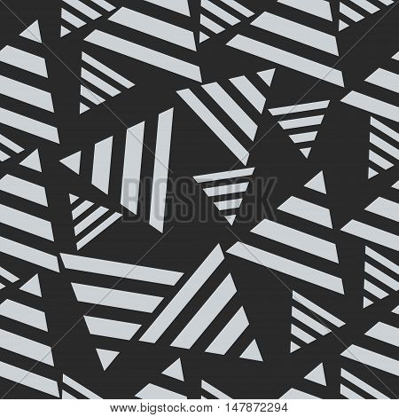 Geometric seamless pattern triangles. Concept art vector