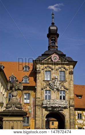 Historical Streets of Bamberg in Bavaria Germany