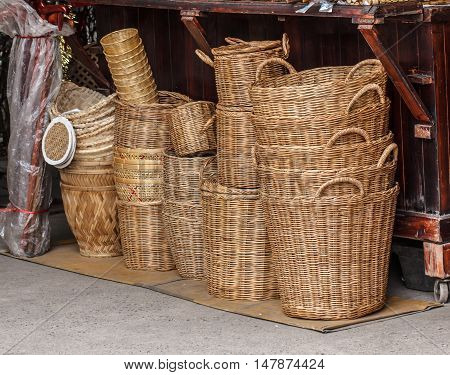 The Object handmade wicker basket beautiful, outdoor