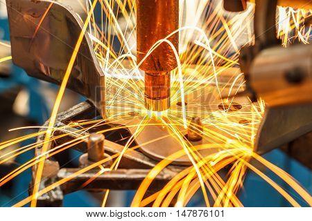 The Industrial spot nut auto welding automotive in thailand.